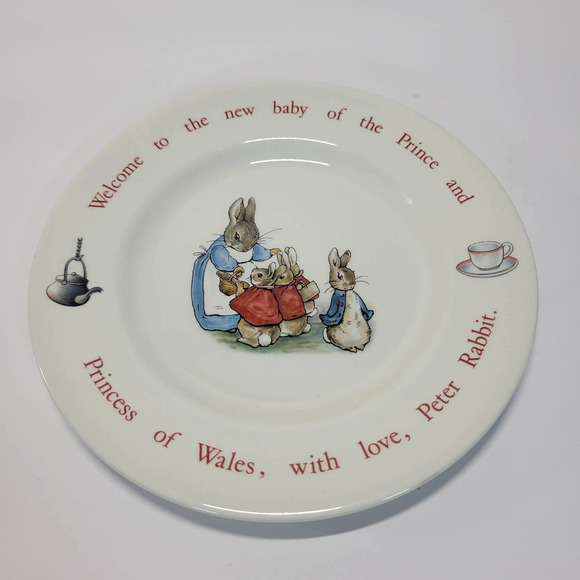 Wedgwood Peter Rabbit Prince of Wales Plate